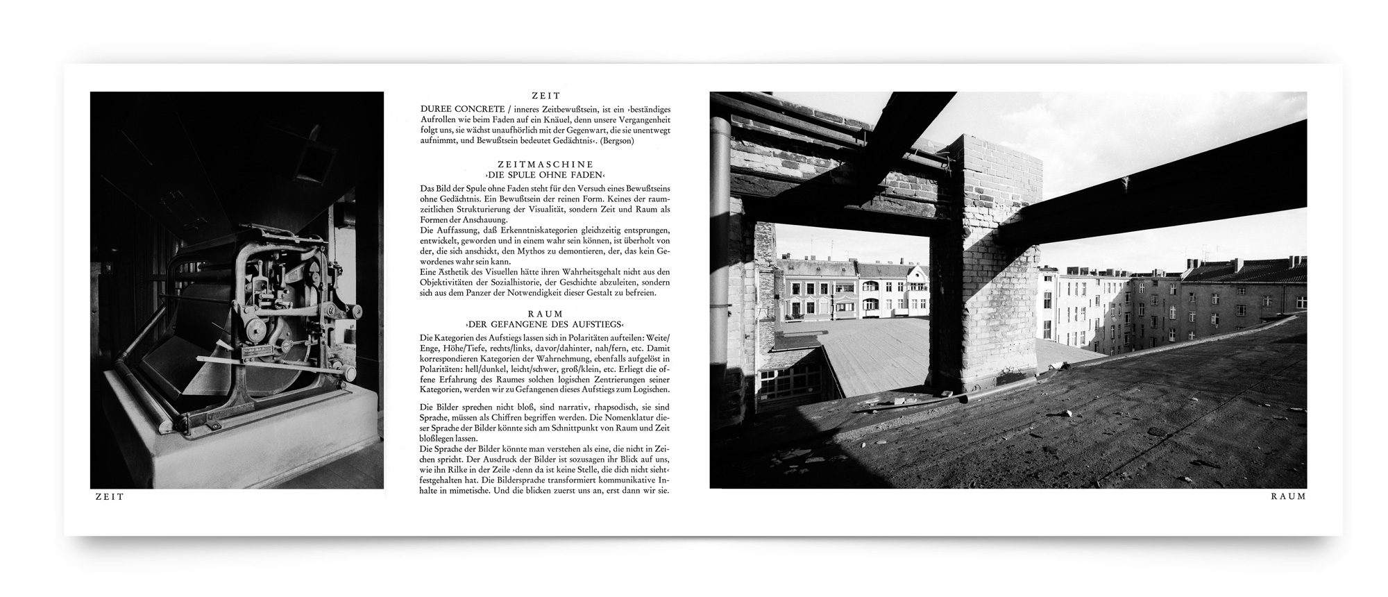 Bild-Text-Projekt: Die Fassade - Blick der Bilder (Innenseite)