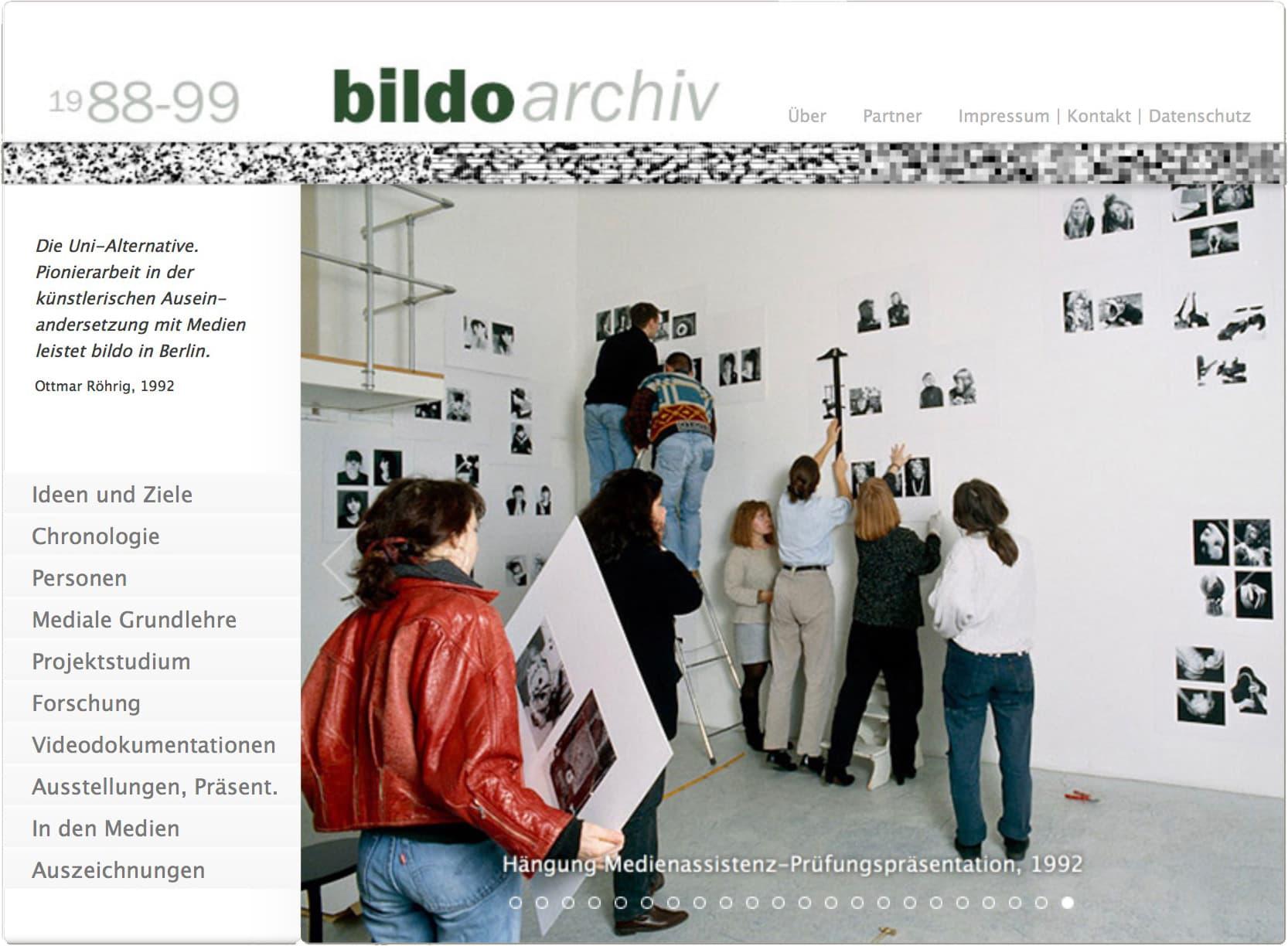 Webseite bildo archiv