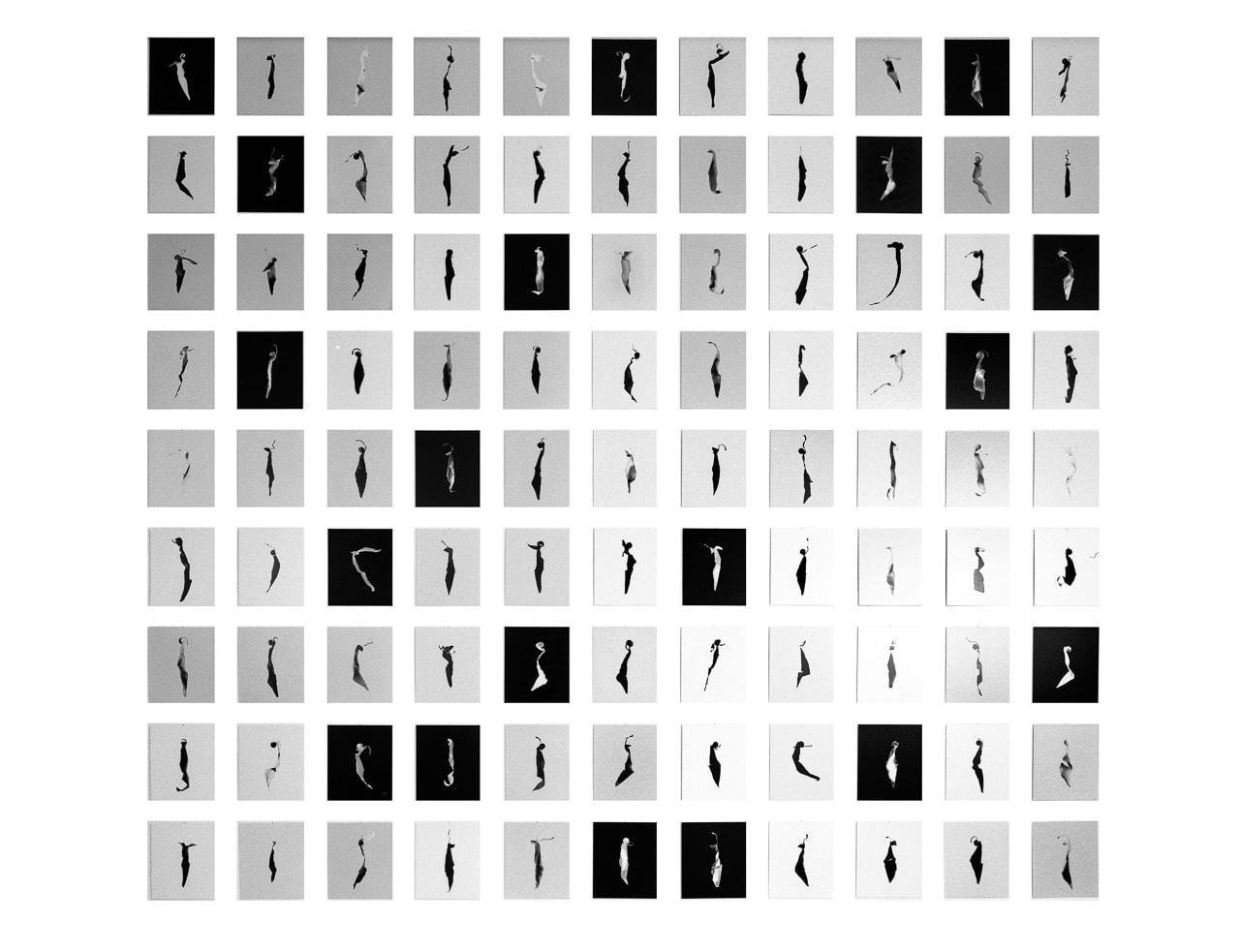 Tableau »99 ULOs für Berlin« in der Ausstellung »ULO family – Fotogramme von Floris M. Neusüss« im Studio 1 der bildo akademie 1993